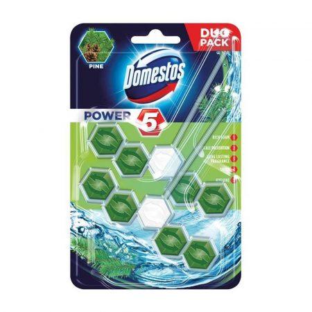 środki czystości i higiena 7 alibiuro.pl DOMESTOS Power 5 kostka zapachowa do WC Pine 2x55g 58