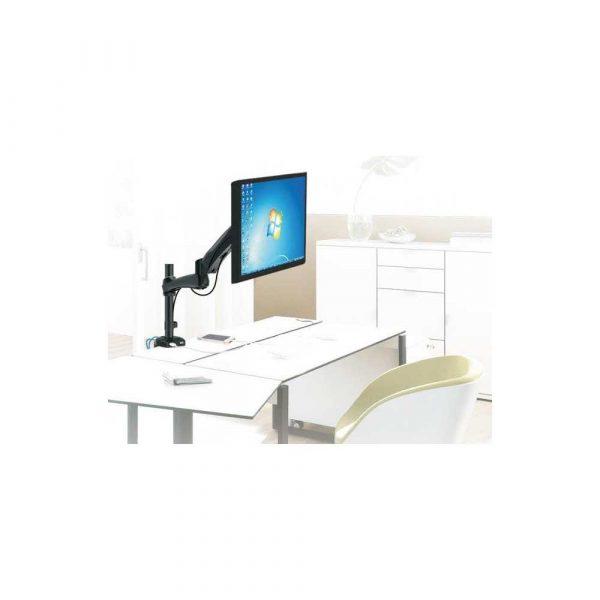 sprzęt AGD 7 alibiuro.pl Uchwyt biurkowy do monitora Maclean MC 669W biurkowy Obrotowy Uchylny 13 Inch 27 Inch max. 9kg 39