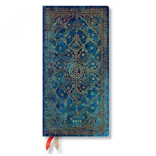 sprzęt biurowy 7 alibiuro.pl Kalendarz paperblanks 2019 Azure Slim kolor niebieski 41