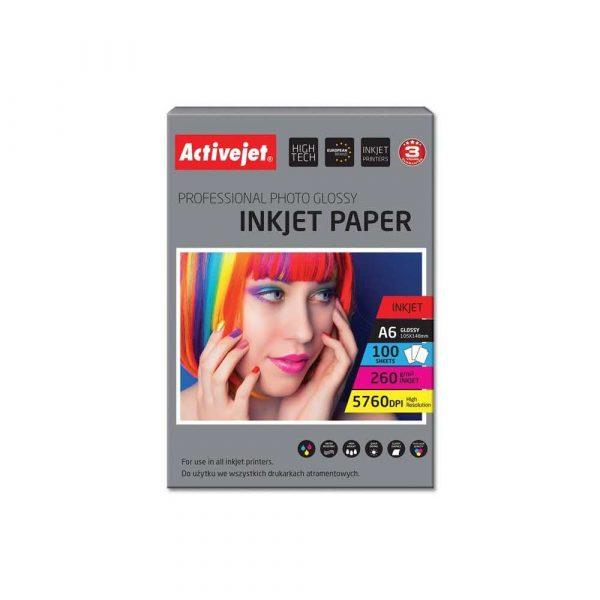 sprzęt biurowy 7 alibiuro.pl Papier byszczcy Activejet AP6 260GR100 A6 100 szt. 41