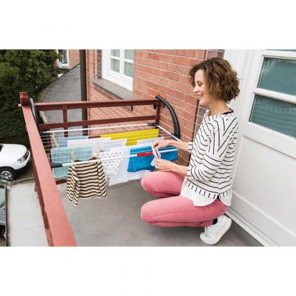 suszarki łazienkowe 7 alibiuro.pl Suszarka wiszca na pranie na balkon VILEDA Sunset 157229 zewntrzna wiszca kolor biay 18