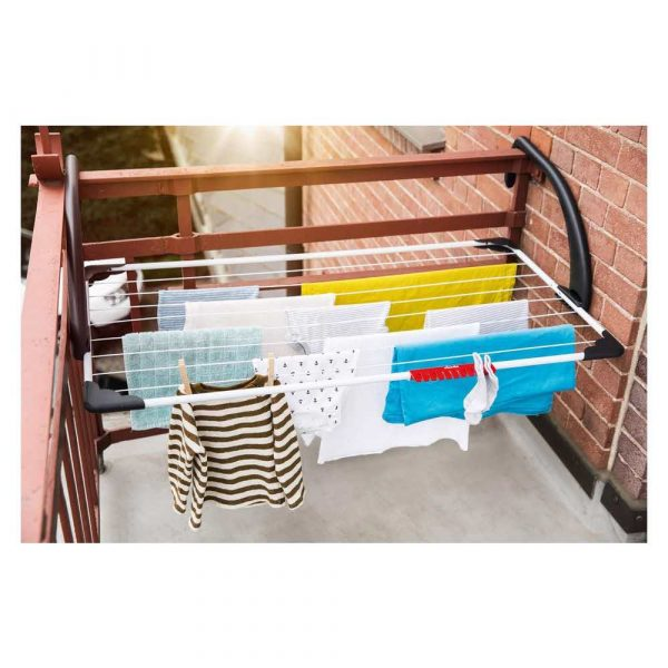 suszarki łazienkowe i wolnostojące 7 alibiuro.pl Suszarka wiszca na pranie na balkon VILEDA Sunset 157229 zewntrzna wiszca kolor biay 76