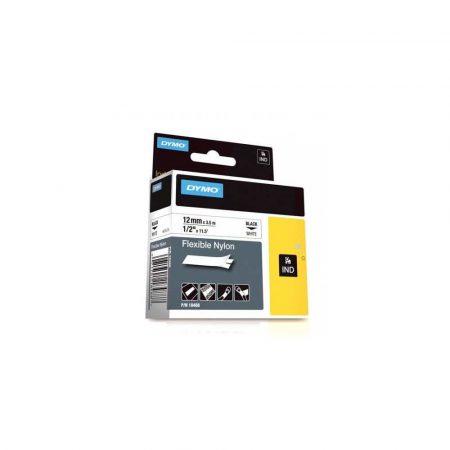 taśmy do drukarek etykiet 1 alibiuro.pl S0718100 Tama Dymo Rhino nylonowa 12 mm biaa 18488 5