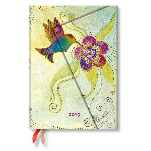 terminarze 7 alibiuro.pl Kalendarz paperblanks 2019 Hummingbird Midi wielokolorowy 64