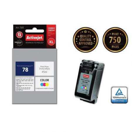 tusz do drukarki HP 7 alibiuro.pl Tusz Activejet AH 78R zamiennik HP 78 C6578D Premium 45 ml kolor 14