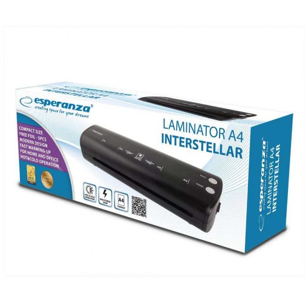 urządzenia do laminacji 7 alibiuro.pl ESPERANZA LAMINATOR A4 INTERSTELLAR EFL004 51