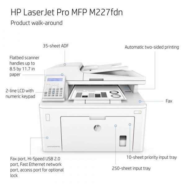 urządzenia wielofunkcyjne MFP laserowe 7 alibiuro.pl Urzdzenie wielofunkcyjne HP Laserjet Pro M227FDN MFP G3Q79A laserowe A4 Skaner paski 17