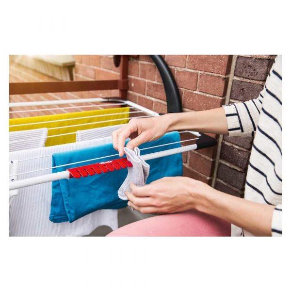 wyposażenie 7 alibiuro.pl Suszarka wiszca na pranie na balkon VILEDA Sunset 157229 zewntrzna wiszca kolor biay 82