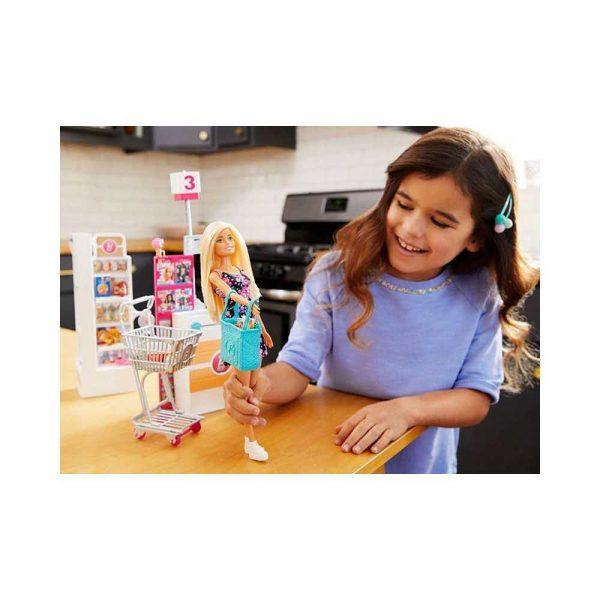 zabawki 7 alibiuro.pl Zestaw zabawek Barbie supermarket lalka MATTEL FRP01 Od 3 lat 30