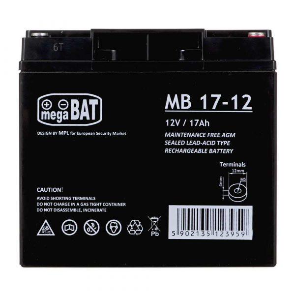 zaopatrzenie dla biura 7 alibiuro.pl Akumulator UPS MPL POWER ELEKTRO VRLA MB 17 12 12V DC 17000mAh 46