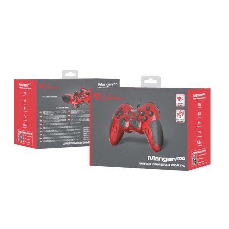 zaopatrzenie dla biura 7 alibiuro.pl Gamepad NATEC Genesis Mangan 200 NJG 1425 PC kolor czerwony 82