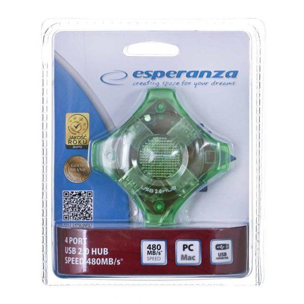 zaopatrzenie dla biura 7 alibiuro.pl Hub Esperanza Star EA150G 4x USB 2.0 kolor zielony 3