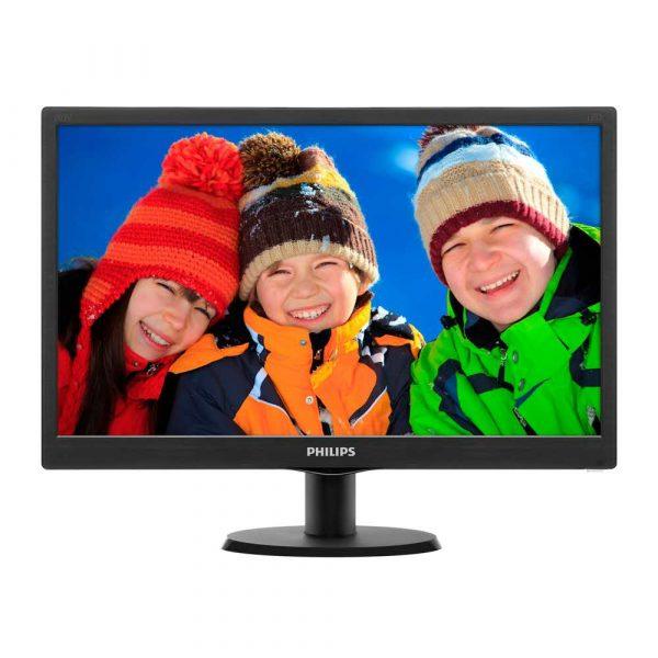 zaopatrzenie dla biura 7 alibiuro.pl Monitor Philips 203V5LSB26 10 19 5 Inch TN 1600x900 VGA kolor czarny 50