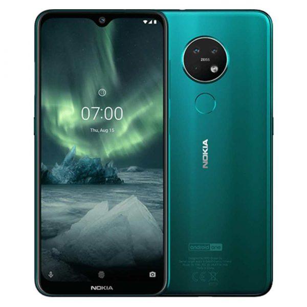 zaopatrzenie dla biura 7 alibiuro.pl Smartfon Nokia 7.2 64GB Green 6 3 Inch 2340x1080 4GB 3500mAh 66