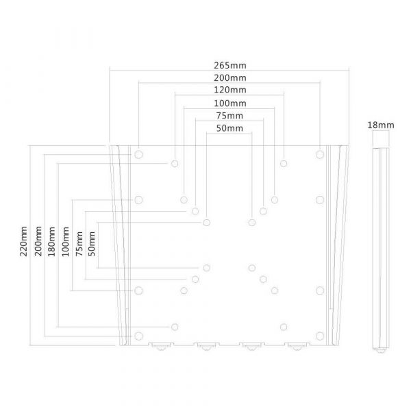 zaopatrzenie dla biura 7 alibiuro.pl Uchwyt cienny do monitora NEWSTAR FPMA W110 cienne 10 Inch 40 Inch max. 35kg 85