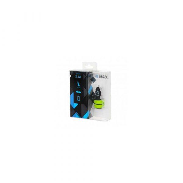 zaopatrzenie dla biura 7 alibiuro.pl adowarka samochodowa IBOX C 12 DUAL USB 3.1A ICC12BG 57