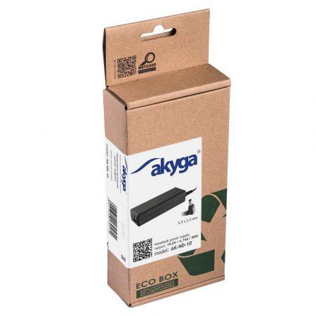 zasilacze do komputerów i laptopów 7 alibiuro.pl Zasilacz sieciowy Akyga AK ND 10 do notebooka Acer Asus DELL Lenovo Toshiba 19 V 4 74 A 90W 5.5 mm x 2.5 mm 66