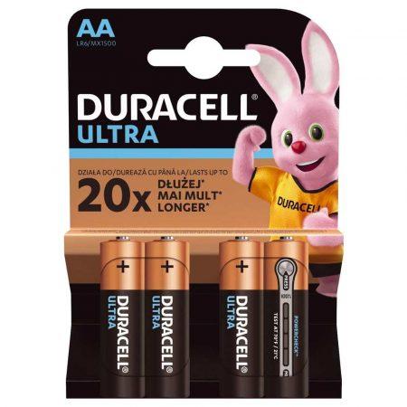 zasilanie 7 alibiuro.pl Zestaw baterii alkaliczne Duracell Ultra Power AA LR6 Alkaliczny manganowy x 4 62