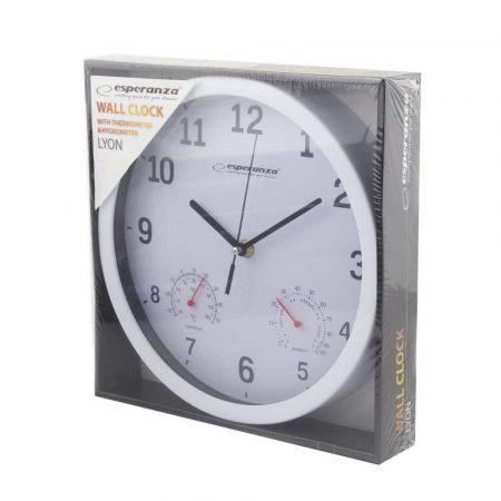 zegary 7 alibiuro.pl Zegar cienny Esperanza LYON EHC016W kolor biay kolor srebrny 14