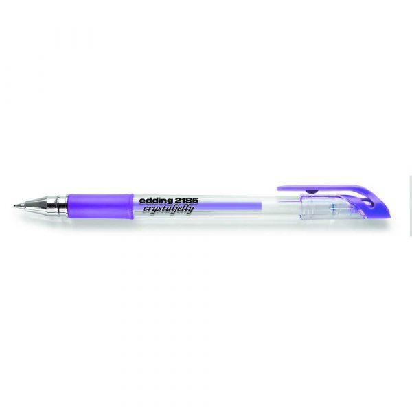 długopis żelowy edding crystal jelly fioletowy metallic alibiuro.pl 12