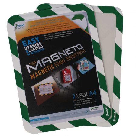 kieszeń magnetyczna tarifold magneto safety 2 sztbiało zielona alibiuro.pl 98