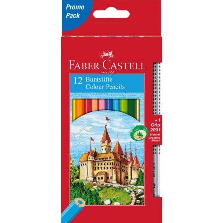 kredki zamek 12 kolołówek grip opakowanie kartonowe faber castell alibiuro.pl 42