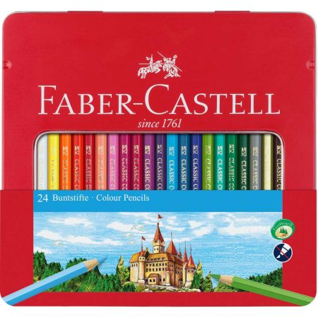 kredki zamek 24 kolopakmetalowe faber castell alibiuro.pl 99