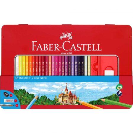kredki zamek 48 kolopakmetalowe faber castell alibiuro.pl 52