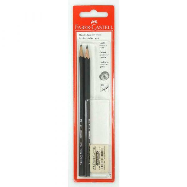ołówek 1111 hb 2 sztgumka 1 sztblister faber castell alibiuro.pl 32