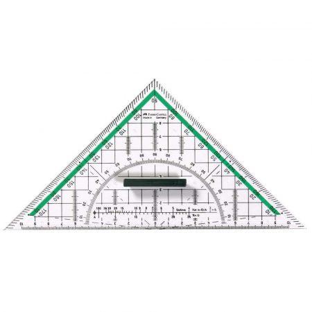 trójkąt geometryczny 227x114x22mm faber castell alibiuro.pl 77