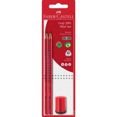 zestaw 2 ołówków grip+temperówka grip 2001 mini blister faber castell alibiuro.pl 65