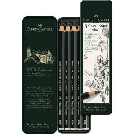 zestaw ołówków castell 9000 jumbo 5 sztfaber castell alibiuro.pl 88