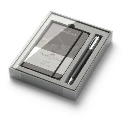 zestaw promocyjny ambition black długopis+notes w opakupominkowym faber castell alibiuro.pl 65