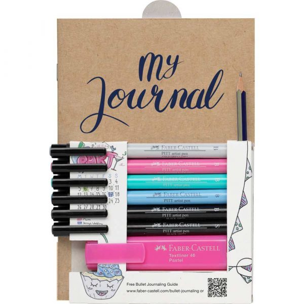 zestaw startowy bullet journal 6x pitt artist pen+zakreślacz+ołówek+broszura eng faber castell alibiuro.pl 73