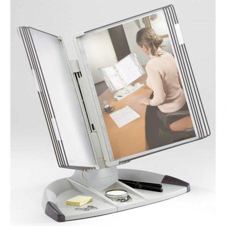 biurkowy system prezentacyjny tarifold a4 +10 paneli prezentacyjnych szarych alibiuro.pl 66