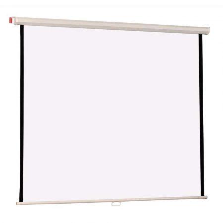 ekran projekcyjny memobe manualny sufitowy lub naścienny basic płótno matt white 180xh180 cm 11 alibiuro.pl 26