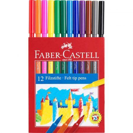 flamastry zamek 12 kolopakowanie kartonowe faber castell alibiuro.pl 32