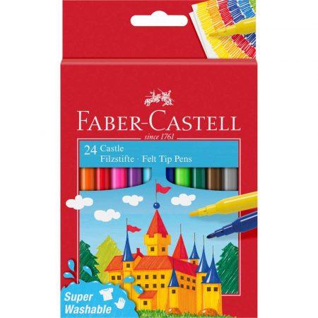 flamastry zamek 24 kolopakowanie kartonowe faber castell alibiuro.pl 58