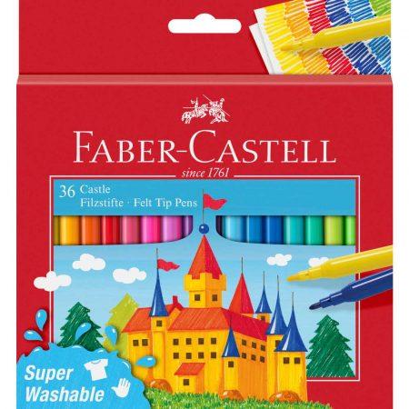 flamastry zamek 36 kolopakowanie kartonowe faber castell alibiuro.pl 90