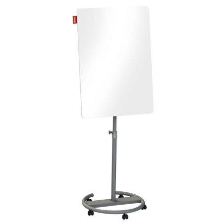 flipchart mobilny memobe szklany biały suchościeralny magnetyczny circle 70x100xh220 cm alibiuro.pl 71