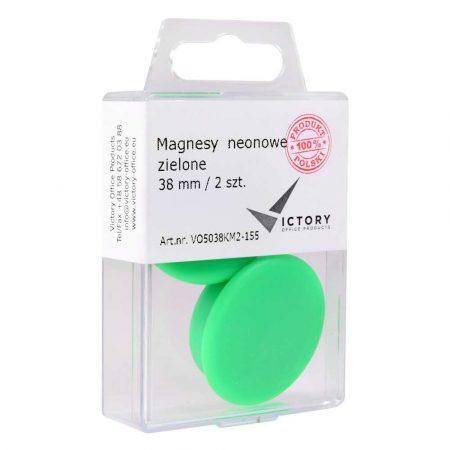 magnesy neonowe zielone 38mm opkm 2 sztvictory office alibiuro.pl 54