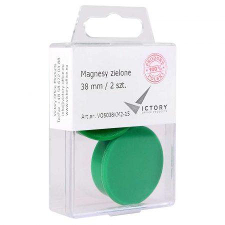 magnesy zielone 38mm opkm 2 sztvictory office alibiuro.pl 34