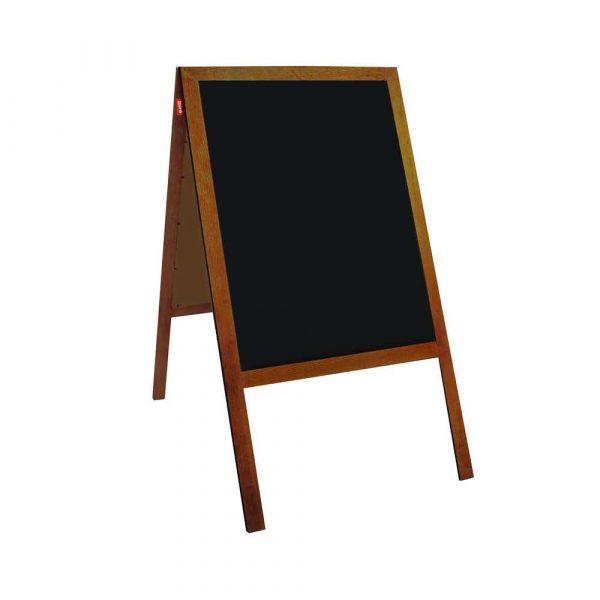 potykacz kredowy memobe czarny rama drewniana lakierowana brązowa 50x70 cm alibiuro.pl 73
