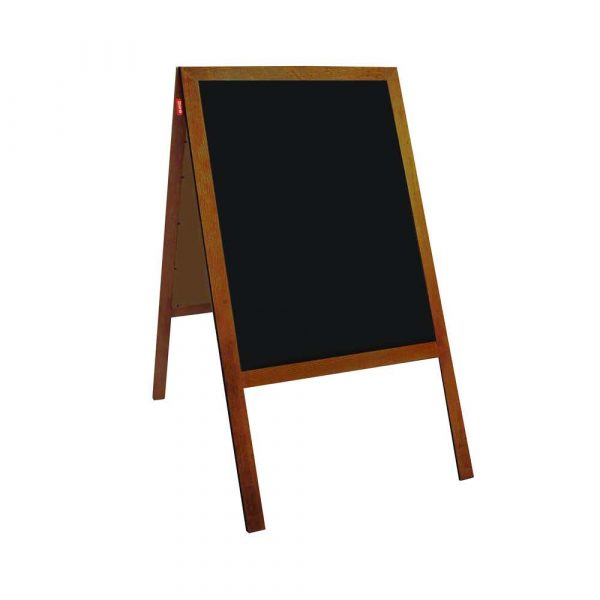 potykacz kredowy memobe czarny rama drewniana lakierowana brązowa 60x120 cm alibiuro.pl 81
