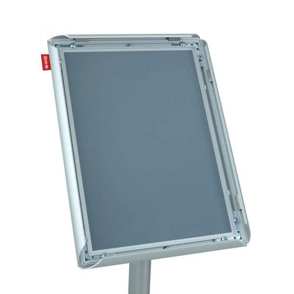 stojak na ulotki memobe metalowy z ramką aluminiowąa4 21x297 cm h 100 cm alibiuro.pl 83