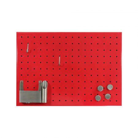tablica magnetyczna bez ramy 500x350mm memoboards czerwona z otworami alibiuro.pl 0