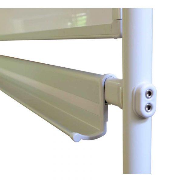 tablica obrotowo jezdna memobe dwustronnie suchościeralna magnetyczna biała standard 120x90xh180 cm alibiuro.pl 73