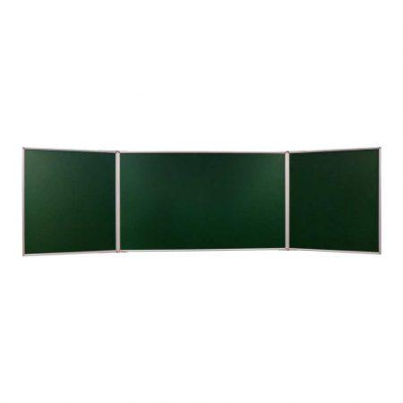 tablica tryptyk 140x100cm magnetyczna kredowa zielona w ramie aluminiowej z półką alibiuro.pl 93