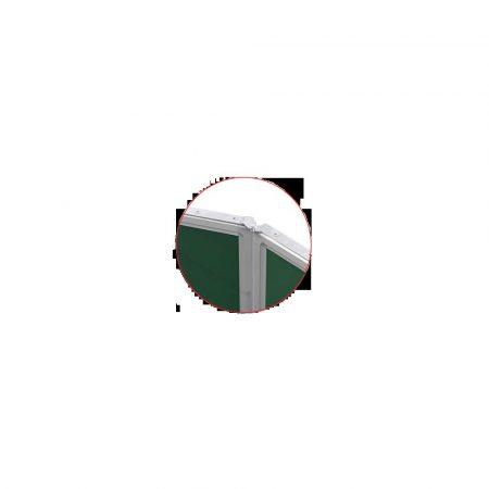 tablica tryptyk 170x100cm magnetyczna kredowa zielona w ramie aluminiowej z półką basic alibiuro.pl 1
