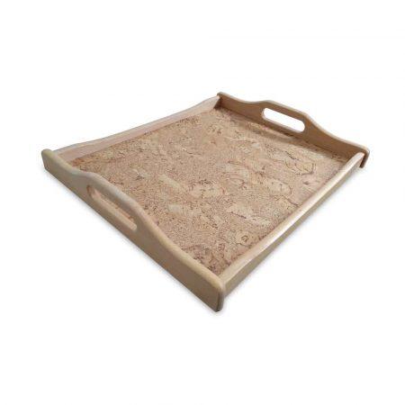 taca korkowa z uchwytem drewnianym 30x40cm alibiuro.pl 30